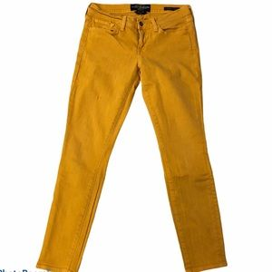 Lucky Brand Yellow Mustard Charlie Skinny Ankle 28